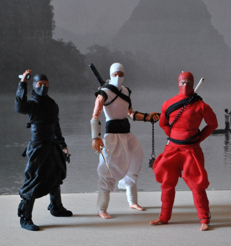 CUSTOM NINJAS RED, BLACK & WHITE 1/6, 30 CM, 12 INCH Dsc_0328
