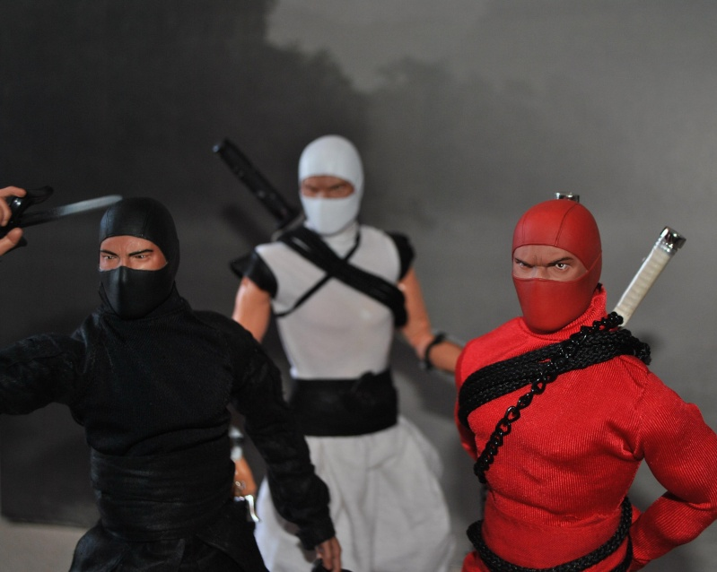 CUSTOM NINJAS RED, BLACK & WHITE 1/6, 30 CM, 12 INCH Dsc_0329