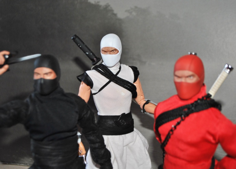 CUSTOM NINJAS RED, BLACK & WHITE 1/6, 30 CM, 12 INCH Dsc_0330