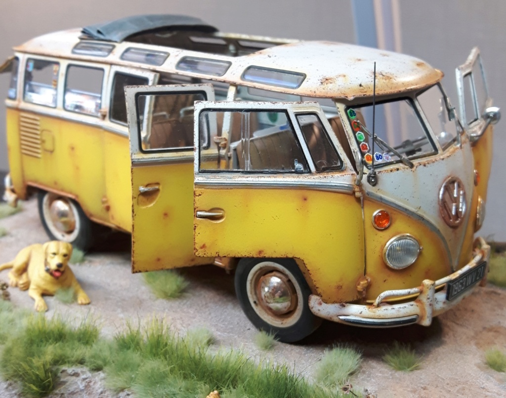 """Volkswagen T1 """"Samba Bus"""" revell 1/24 diorama 20190911"""
