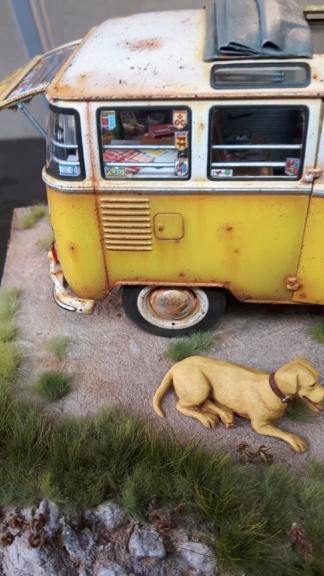 """Volkswagen T1 """"Samba Bus"""" revell 1/24 diorama 20190916"""