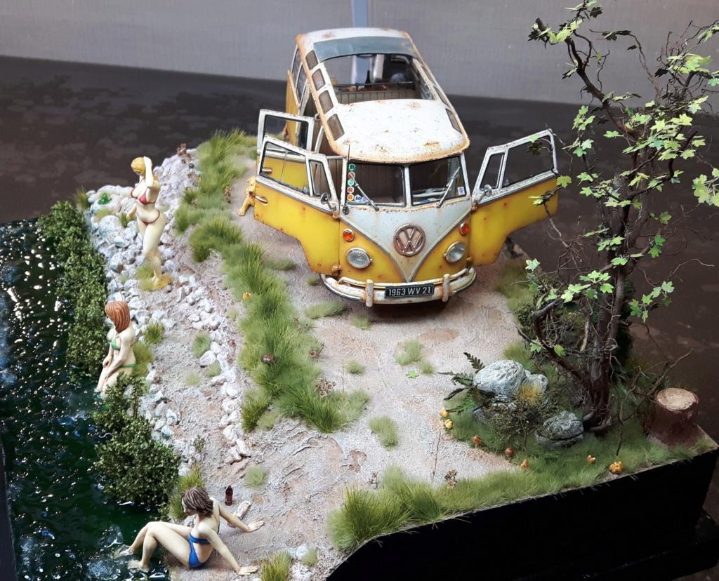 """Volkswagen T1 """"Samba Bus"""" revell 1/24 diorama 20190918"""