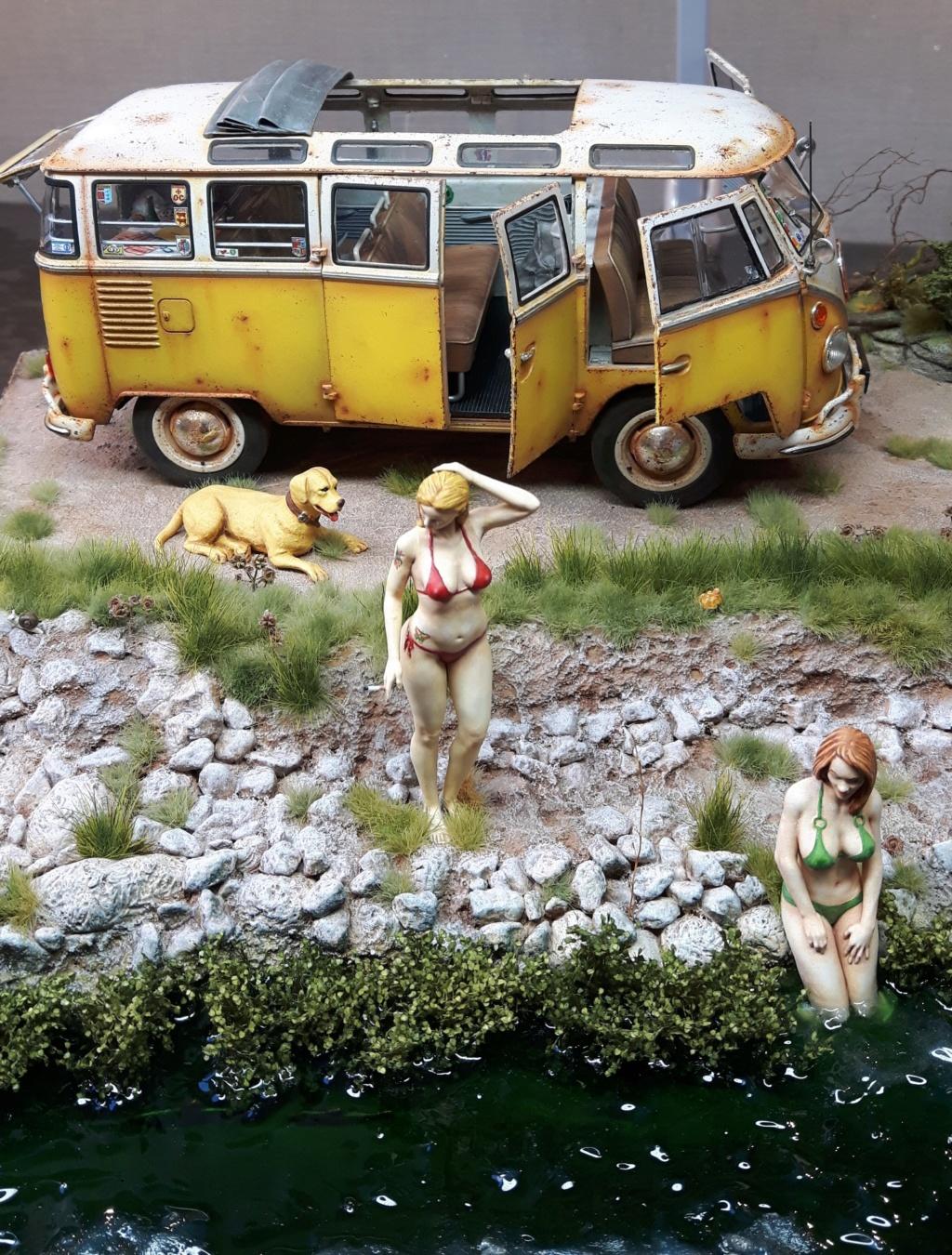 """Volkswagen T1 """"Samba Bus"""" revell 1/24 diorama 20190920"""