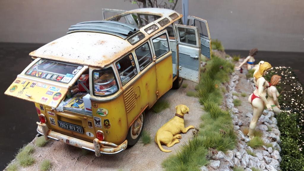 """Volkswagen T1 """"Samba Bus"""" revell 1/24 diorama 20190925"""