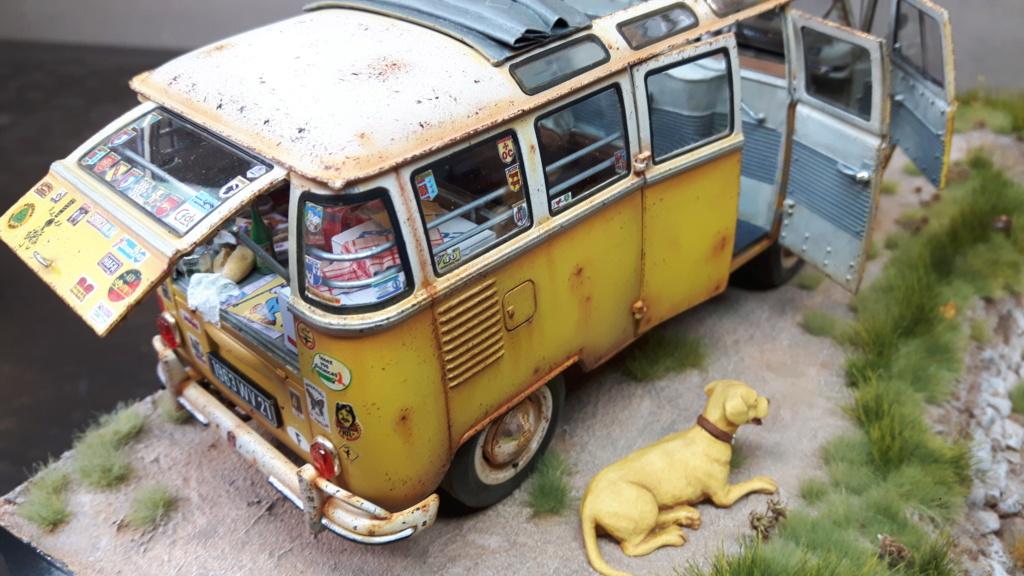 """Volkswagen T1 """"Samba Bus"""" revell 1/24 diorama 20190927"""