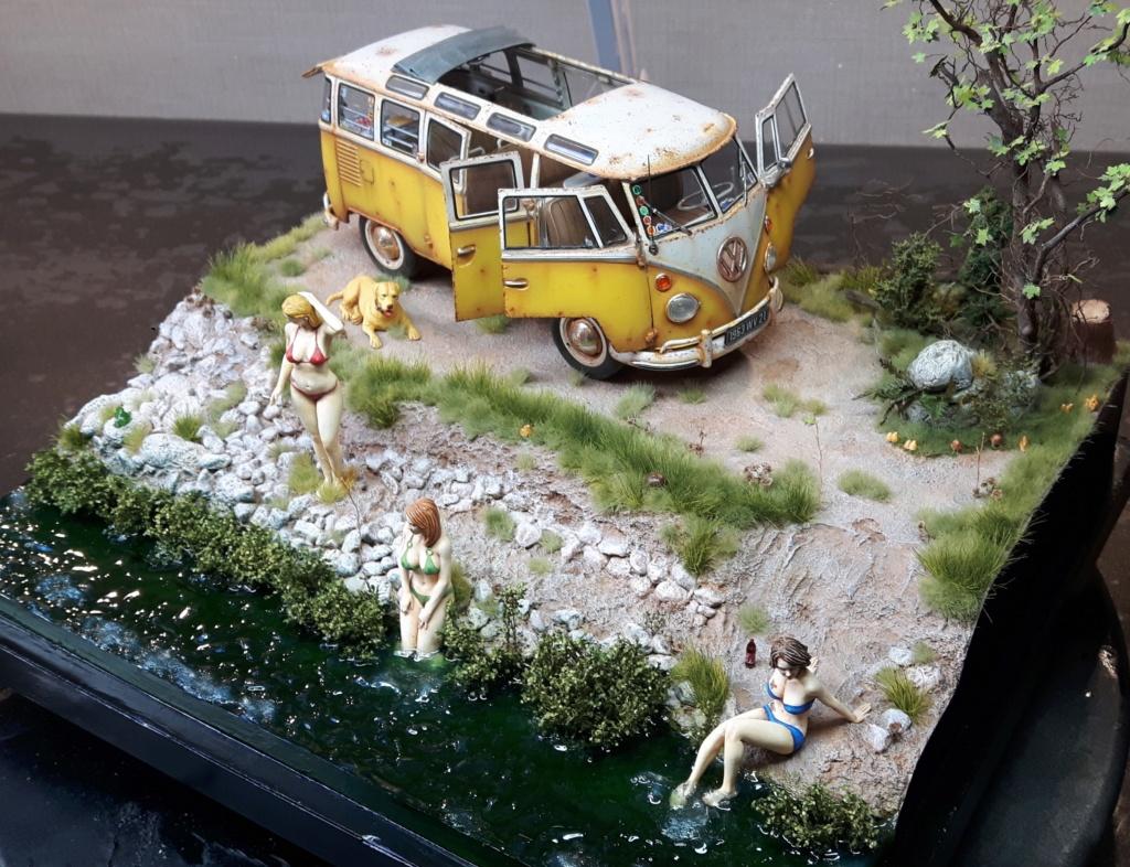 """Volkswagen T1 """"Samba Bus"""" revell 1/24 diorama 20190928"""