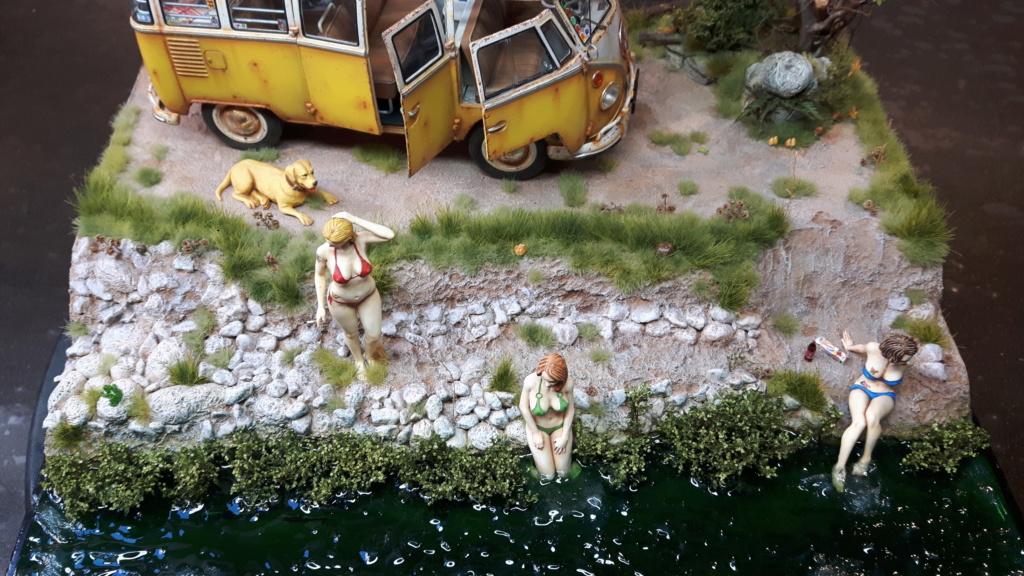 """Volkswagen T1 """"Samba Bus"""" revell 1/24 diorama 20190929"""