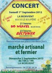 Concert + restauration vegane (pizza au four à pain) ainsi que stand Végéclic en Vendée Concer10