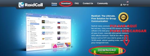 Guia De Descargar e instal·lar Raidcall y configurarlo Rc10
