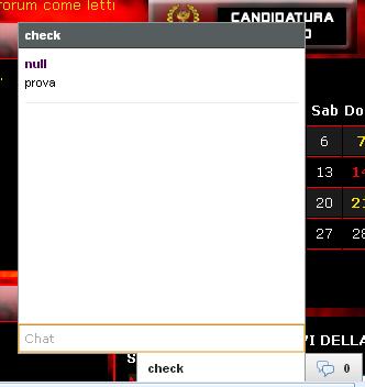 Codice chat interferisce con la normale messaggistica Chatat10