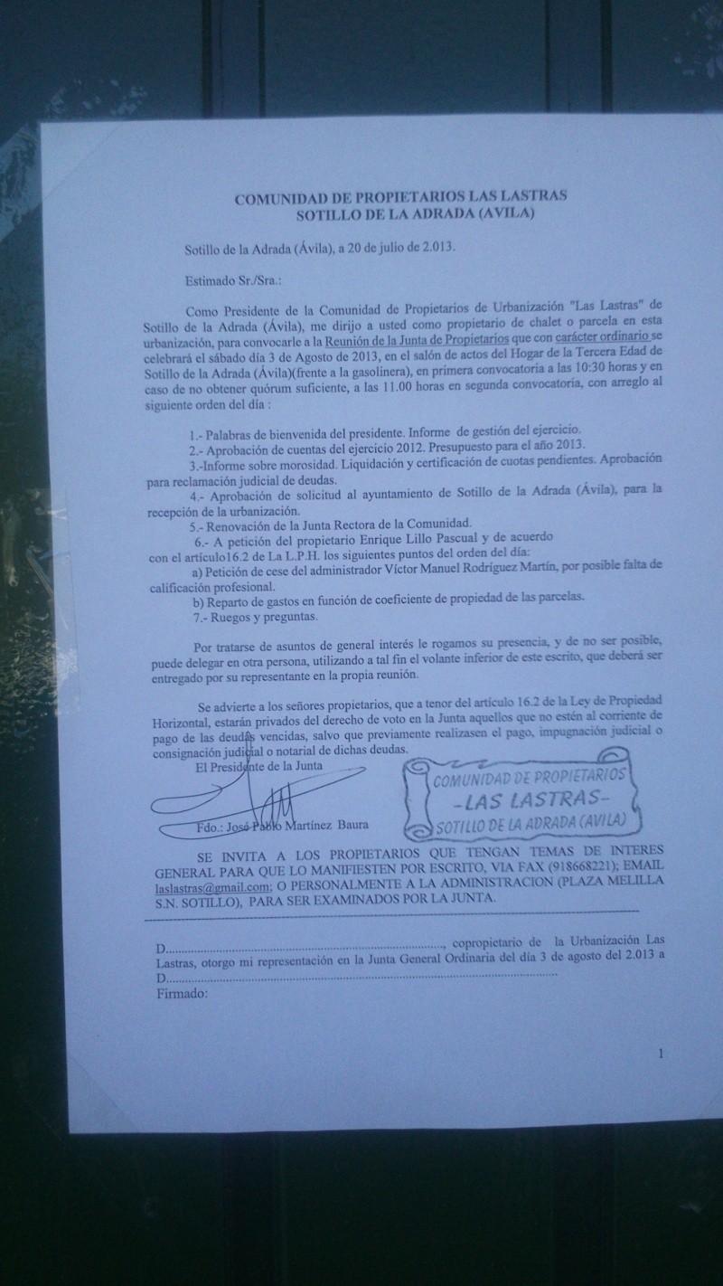 FECHA DE LA JUNTA ORDINARIA 2013 Dsc_0214