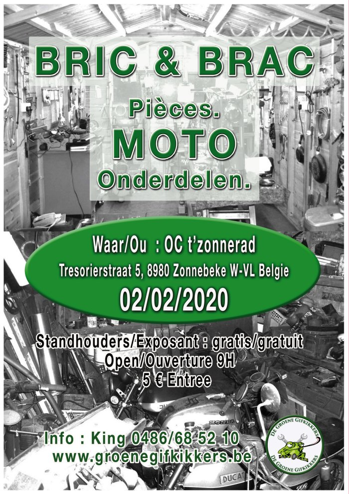 MANIFESTATION - Bric & Brac Pièces Moto - 2 Février 2020 - Zonnebeke (8980) Bélgique  0220_i10