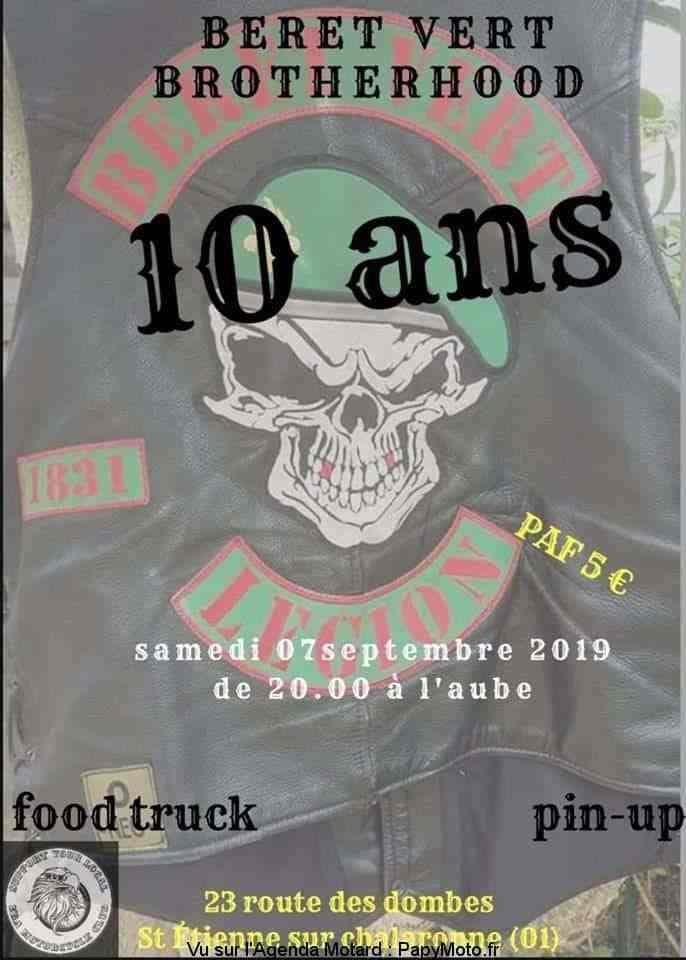 Manifestation  - Béret Vert Brotherhood - 7 Septembre 2019 - St Etienne sur Chalaronne (01) 10-ans10