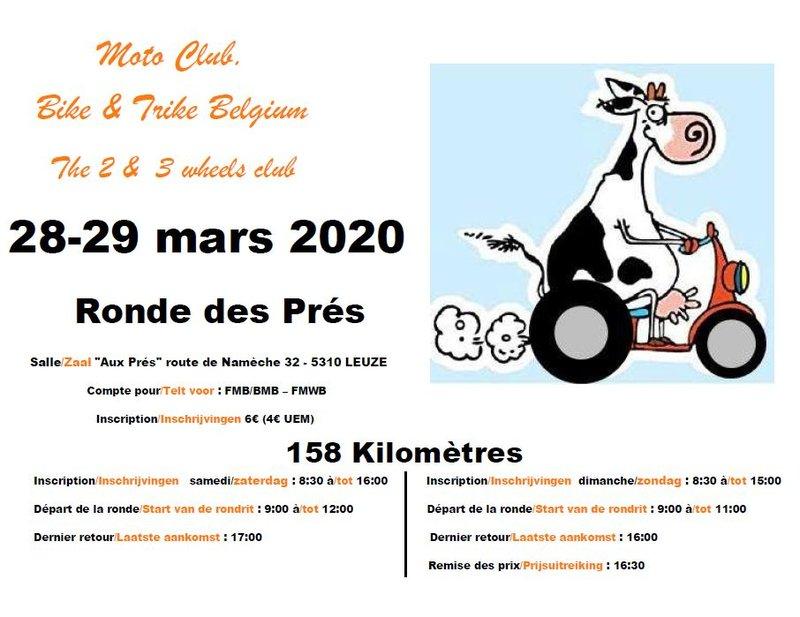 MANIFESTATION  - Ronde des Prés - 28 & 29 Mars 2020 - Leuze (5310 Belgique  10245210