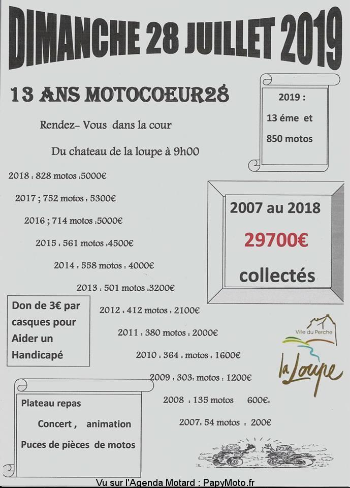MANIFESTATION - Motocoeurs 28 - 28 Juillet 2019 - La Loupe (Ville du Perche) 13-ans10