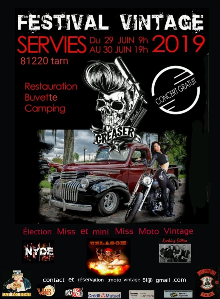 MANIFESTATION - Festival Vintage - 29 au 30 Juin 2019 - Tarn (81220) 13857d10
