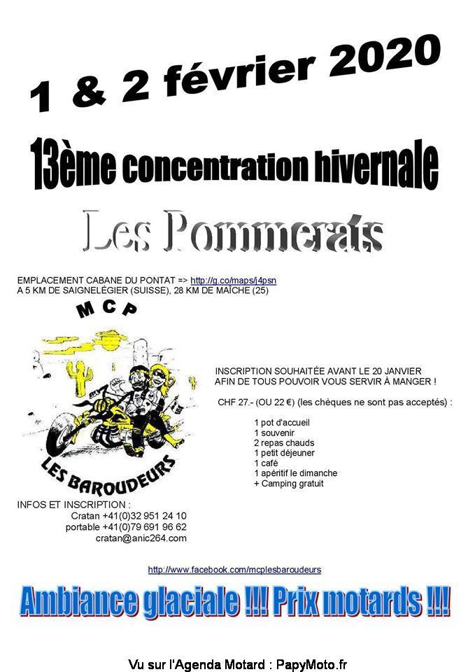 MANIFESTATION - concentration Hivernale - 1 é 2 Février 2020 - Les Pommerats (Suisse)  13e-co16