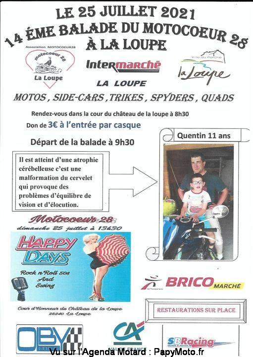 MANIFESTATION - Balade du Motocoeur - 25 Juillet 2021 - La Loupe (28) 14e-ba10