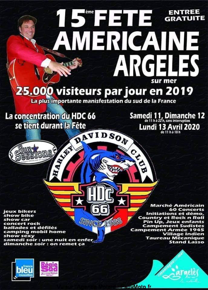 MANIFESTATION - 15ème Fête Américaine - 11 - 12 - & 13 Avril 2020 - Argeles sur Mer  14e-fz10