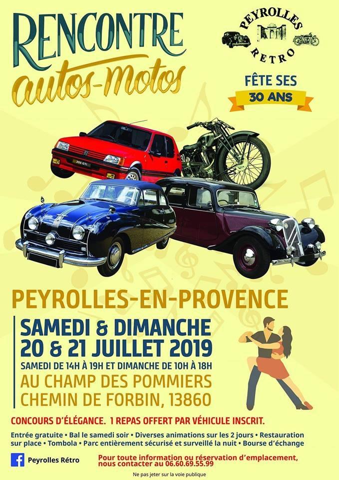 MANIFESTATION - Rencontre Autos Motos 20 & 21 Juillet 2019 -Peyrolles-En-Provence (13860) 15488412