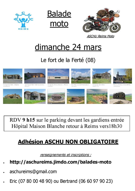 Balade Moto - Dimanche 24 Mars 2019 - Le Fort De La Ferté (08) 15518010