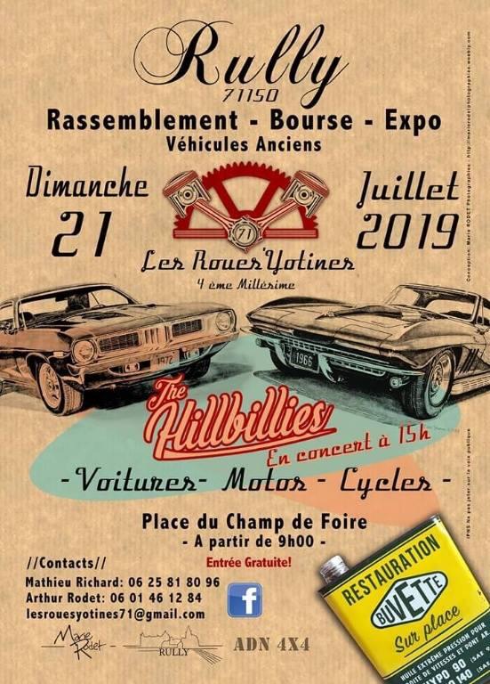 MANIFESTATION - Rassemblement - Bourse -Expo - 21 Juillet 2019 - Rully (71150) 15523812