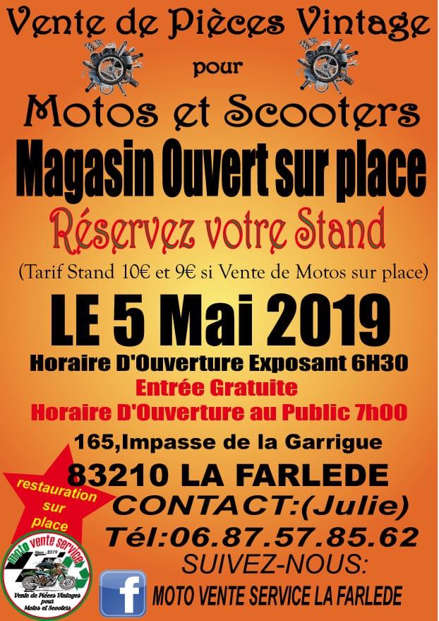 Vente de Pièces Vintage  Moto -  5 Mai 2019  - LA  FARLEDE  -( 83210) 15550110