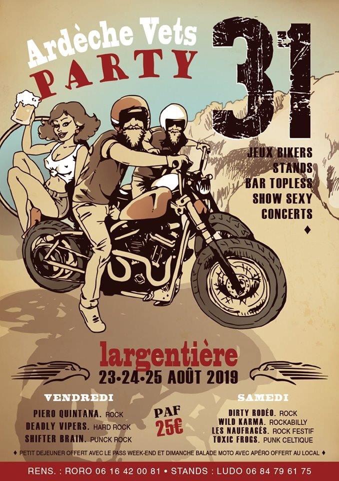 MANIFESTATION - Ardèche Vets Party - 23 - 24 - & 25 AOUT 2019 - Largentière 15590410
