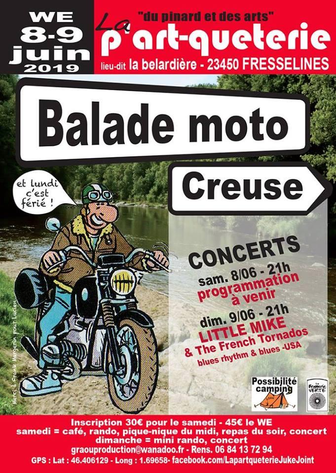 MANIFESTATION - Balade Moto - 8 & 9 Juin 2019 - Fresselines (23450) 15592410