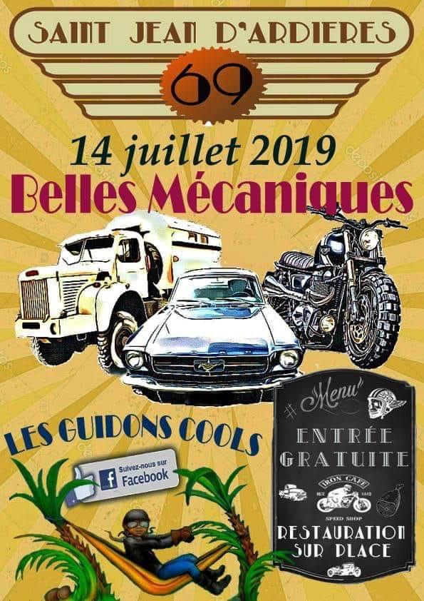 MANIFESTATION - Belles Mécaniques - 14 Juillet 2019 - Saint Jean D'Ardieres (69) 15592511