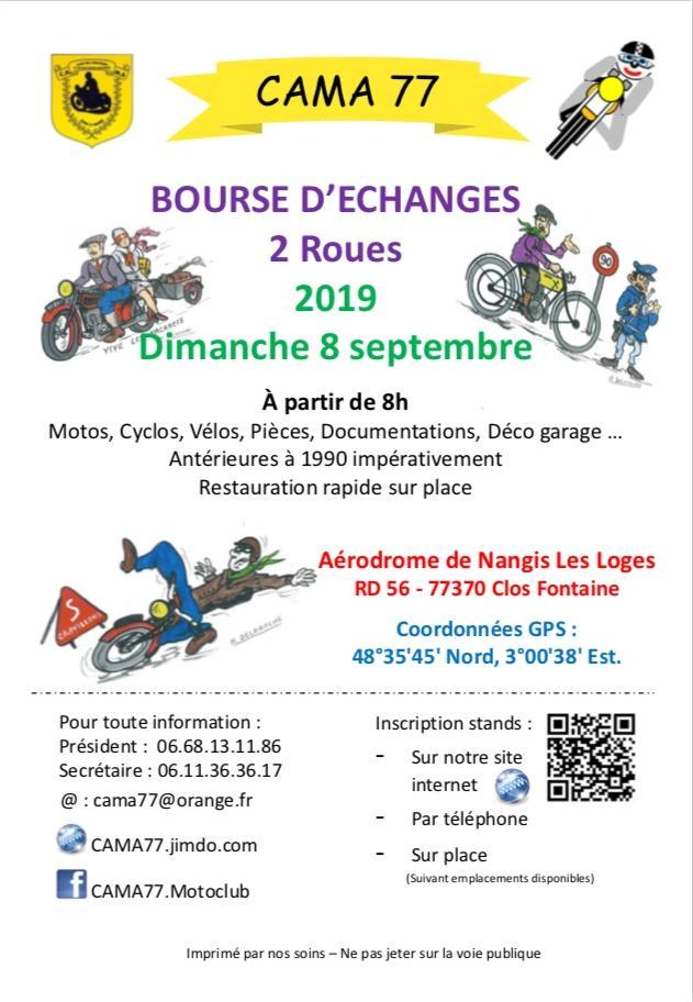 MANIFESTATION  - Bourse D'échanges - Dimanche 8 Septembre 2019 - Cama (77) 15618810