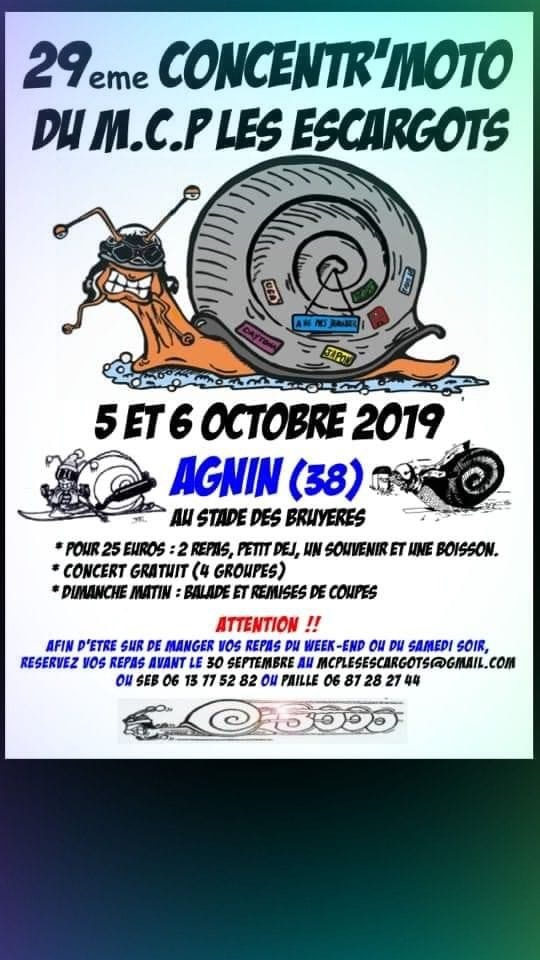 MANIFESTATION - 29ème Concentr'Motos - 5 & 6 Octobre2019 - Agnin (38)  15642412