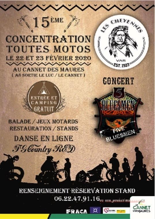 MANIFESTATION - Concentration Toutes Motos - 22 & 23 Février 2020 - Cannet Des Maures  15745310