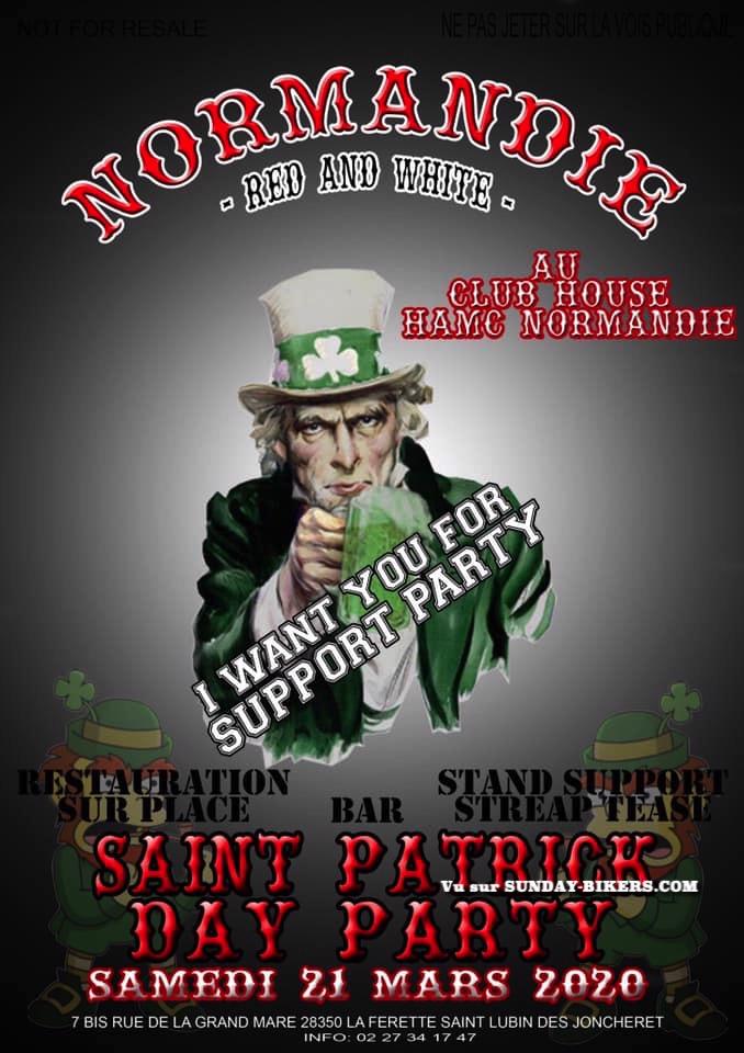 MANIFESTATION - Saint Patrick Day Party - 21 Mars 2020 - La Ferette St Lubin des Joncheret (28350) 15781411