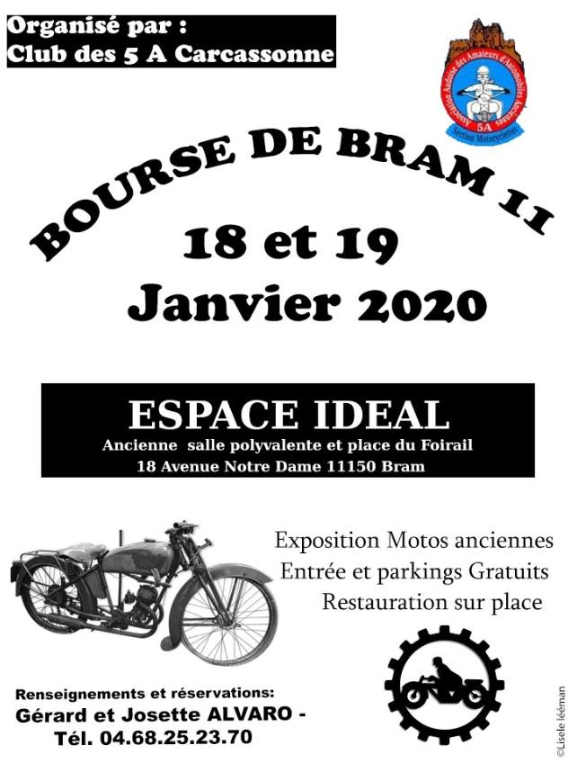 MANIFESTATION - Bourse de Bram - 18 & 19 Janvier 2020 - Bram (11150) 15788510