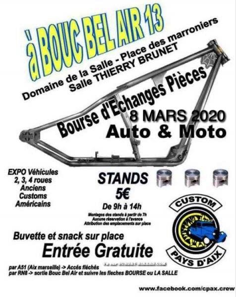 MANIFESTATION - Bourse D'échanges - 8 Mars 2020 - Bouc Bel Air (13) 15790710