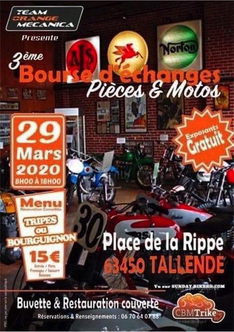 MANIFESTATION - Bourse D'échanges Pieces Motos - 29 Mars - Tallende -(63450) 15797610
