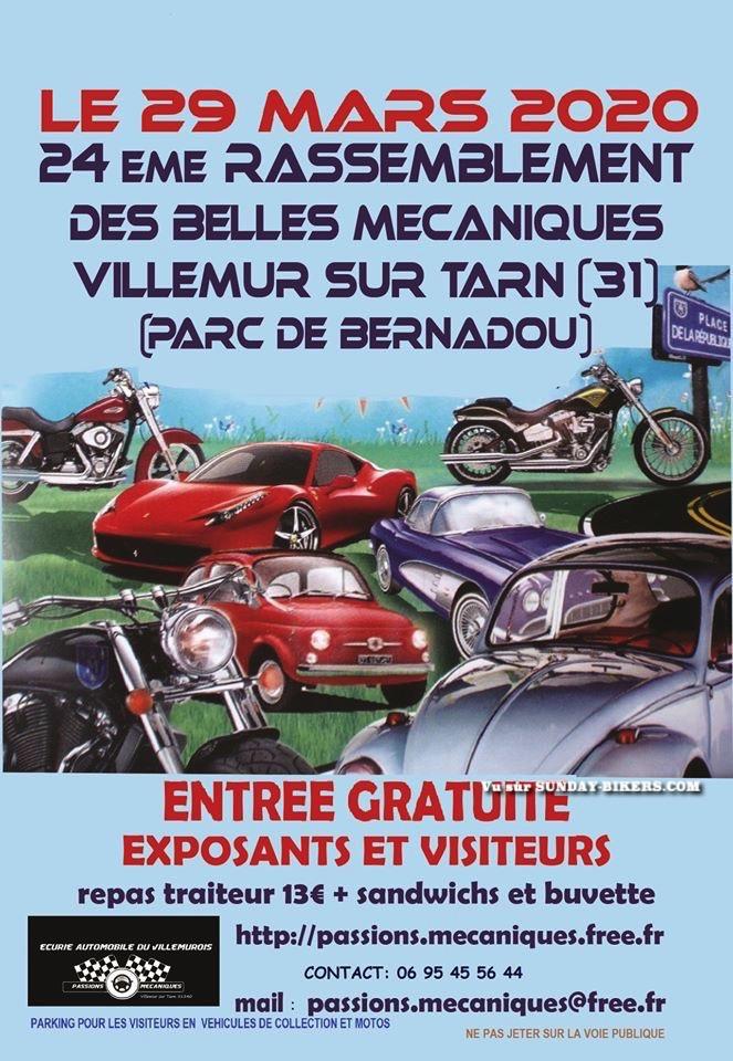 MANIFESTATION  - 24ème Rassemblement - 29 Mars 2020 - Villemur sur Tarn (31) 15799510