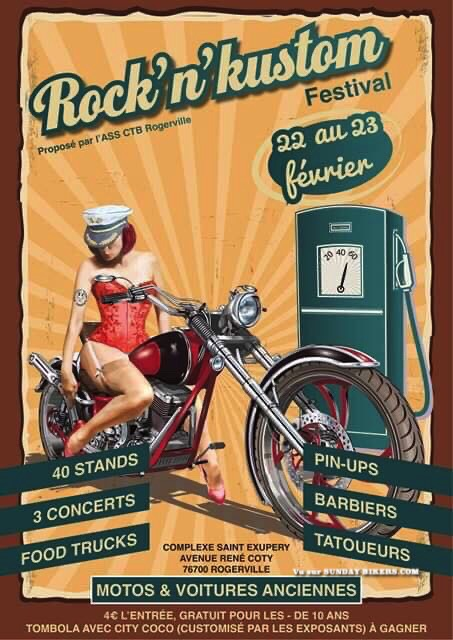 MANIFESTATION - Rock'N'Kustom Festival - 22 & 23 Février 2020 - Rogerville ( 76700) 15804810