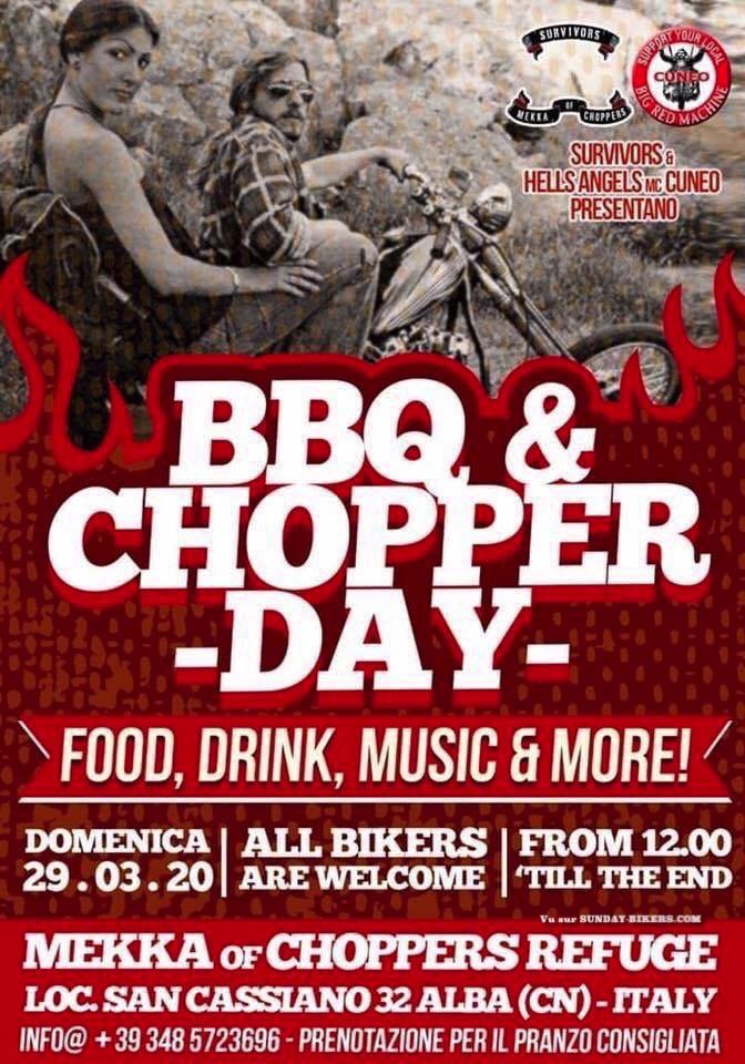 MANIFESTATION - BBQ  & Chopper - Day - Dimanche 23 Mars 2020 - ITALIE  15824910