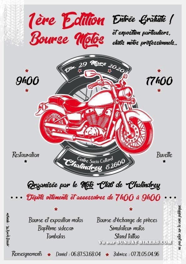MANIFESTATION  - Bourse Motos - Dimanche 29 Mars  2020 - Chalindrey (52600) 15834310