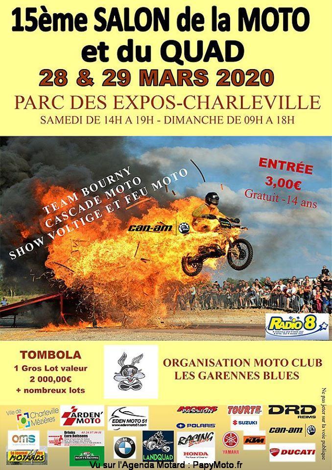 MANIFESTATION   - Salon de la Moto et du Quad - 28 & 29 Mars 2020 - Charleville - Mézières  15e-sa10