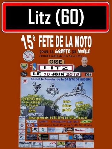 MANIFESTATION - Fete de la Moto -  16 Juin 2019 - LITZ  ( Oise ) 15eme-10