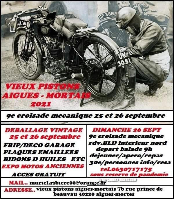 MANIFESTATION - 9 éme Croisade Mécanique  - 25 & 26 Septembre 2021 - Aigues - Mortais (30220) 16157910