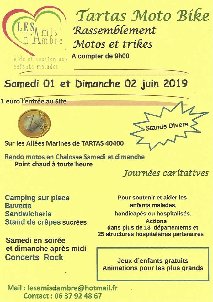 MANIFESTATION - Rassemblement Moto et Trikes - 1 er & 2 Juin 2019 -Allées de Tartas (40400) 18121310