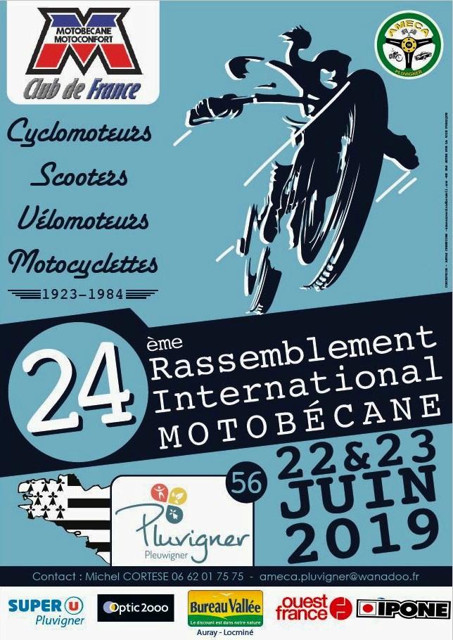 MANIFESTATION - Rassemblement international  Motobécane - 22 a 23 Juin 2019 - Pluvigner (56) 19013111