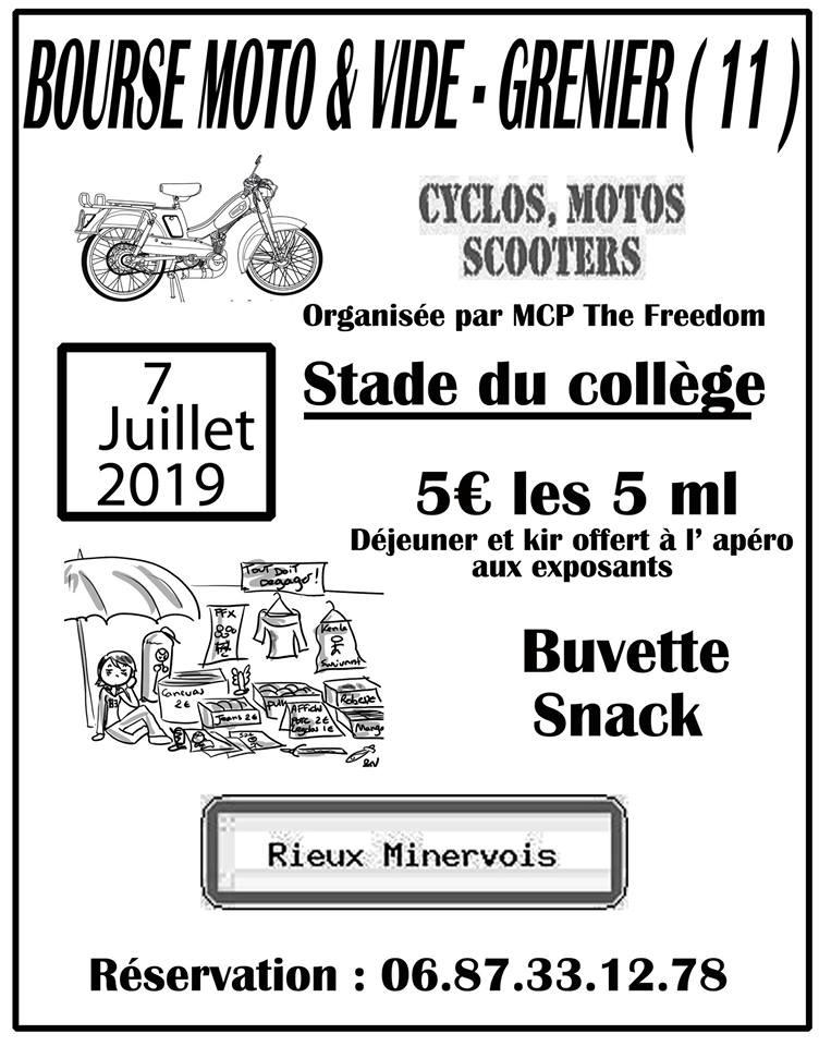 MANIFESTATION - Bourse Moto- 7 Juillet 2019 - RIEUX MINERVOIS 19040910