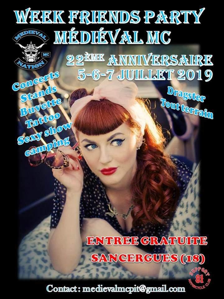 MANIFESTATION - Week Friends Party Médiéval MC - 5 - 6 - & 7 Juillet 2019 - Sancergues (18) 19051210
