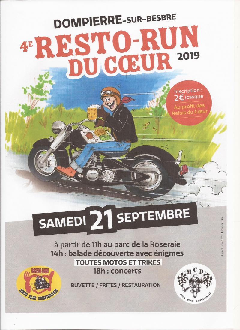 MANIFESTATION - Resto - Run du Coeur - Samedi 21 Septembre 2019 - Dompierre-Sur-Besbre -     e  19081710