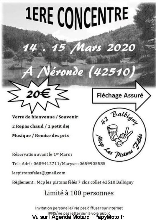 MANIFESTATION  - 1ere Concentre - 14 & 15 Mars 2020 Néronde (42510) 1e-con19